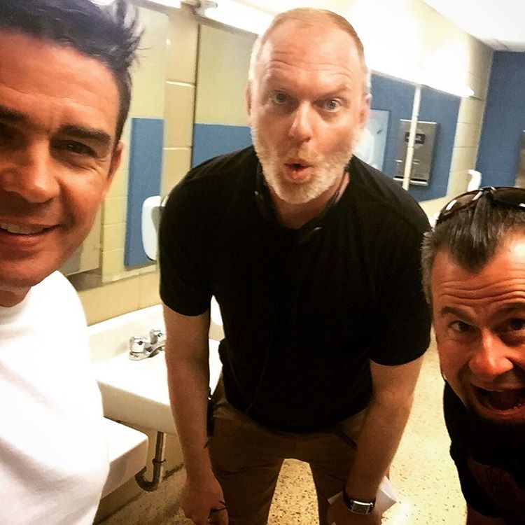 Shooting in the girls bathroom today #degrassi #nextclass @stefanbrogren #MarkTheGaffer #netflix #setlife #degrassicrew (Instagram/mtness22)