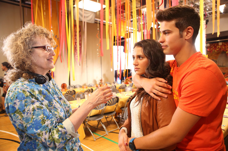 Eleanore Lindo directing in Degrassi Season 13.